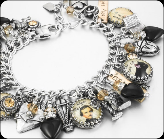 allen jewelry edgar allen poe literary jewelry author by blackberrydesigns 7876