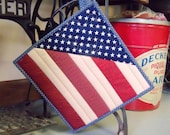 Patriotic mini quilt potholder