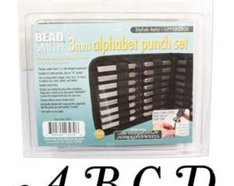 27 or 54 Piece Uppercase/Lowercase Stylish Italic Alphabet Letters Stamping Punch Set For Metal 3mm