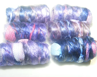 Blue Green, Blue Purple what's the difference? Fiber Bead, loose bead, tube bead, barrel bead, dread loc decoration, macrame, button set