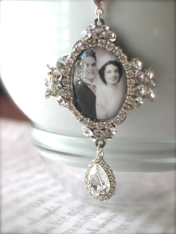 memory wedding bouquet photo charm unique bridal bouquet charm