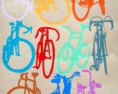 Bicycle Art  Print - Bike Color Chart on Nideggen Paper