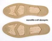espadrille jute soles - M4 -  flat heel - right and left - 35 to 44 European sizes