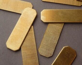 12 Brass Logo Tags - Label or Frame - ID Bracelet D-Ring (12)