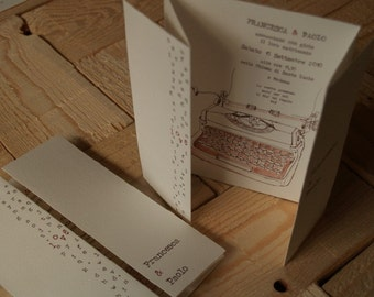 Curtain - Customized Wedding Invitation 10 pcs