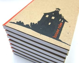 Blank Notebook / Journal / Sketchbook House Rules Hard Cover