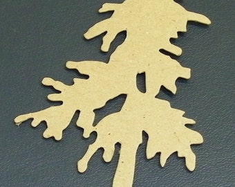 Pine Tree  Die Cut  5 x 2.75 inches Tall  Pack 4