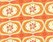FABRIC SALE, Moda Fabric, Folklore Darley Floral  in Pumpkin Orange by Lily Ashbury,  1 Yard