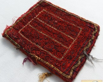 Afghanistan: Vintage Embroidered Pashtun Wallet or Pouch, Item E52