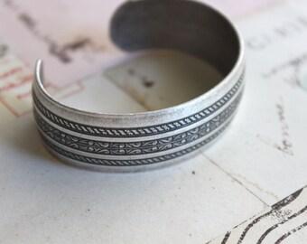 cuff bracelet. silver ox