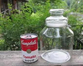 Vintage Glass Canister/ Storage Jar