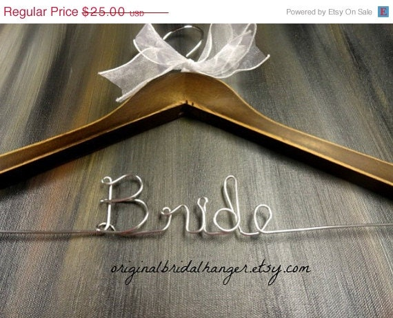 20% OFF SALE Rustic Wedding Hangers Distressed Wooden Hangers With Personalized Wire Wedding Photo Props