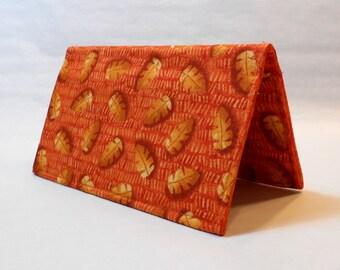 Checkbook Cover - Orange Frouns