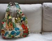 SALE Simple Style Colourful Cotton Frida Print Handbag