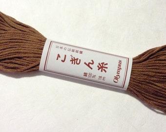 Olympus Kogin #736 Japanese cotton thread 18 meter skein CHOCOLATE