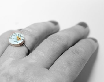 Will You Be My Bridesmaid.  Dainty Sterling Map Ring