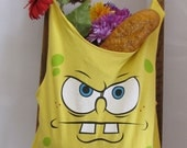 Reusable/Recycled Market/Tote Bag Sponge Bob Square Pants by FashionGreenTBags