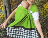 SALE - Fleece Ring Sling Baby Carrier - was 65 - DVD included