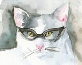 Book Club- Cat Art, bibliophile, book lover, cat lover
