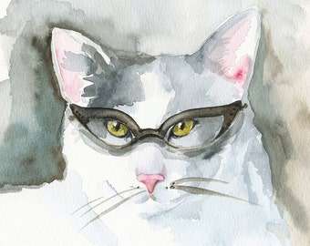 Book Club- Cat Art, bibliophile, book lover, cat lover