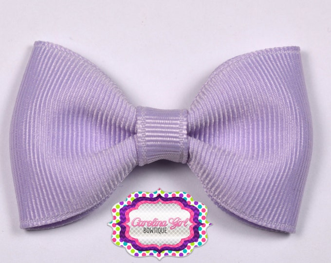 "Lavender 2.5"" Hair Bow Tuxedo Bow Simple Bow Boutique Bow for Babies Toddlers Girls Hair Bows"