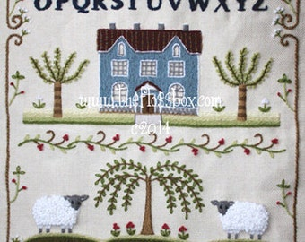 Crewel Embroidery Sampler Pattern