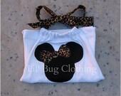 Custom Boutique Leopard Minnie Mouse halter top size 3m 6m 9m 12m 18m 24m 2t 3t 4t 5t 6 7 8 9 10 12 girl