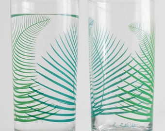 Summer Ferns Glassware - Set of 2 Everyday Drinking Glasses
