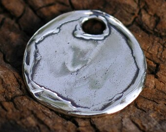 Artisan Disc Charm in Sterling Silver 300s