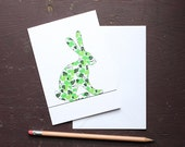 Leafy Hare Greetings Card