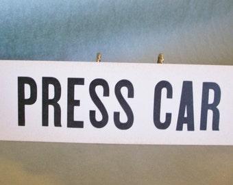 Vintage Letterpress Sign Cardstock Letterpress Press Car
