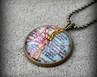 Milwaukee Map Necklace