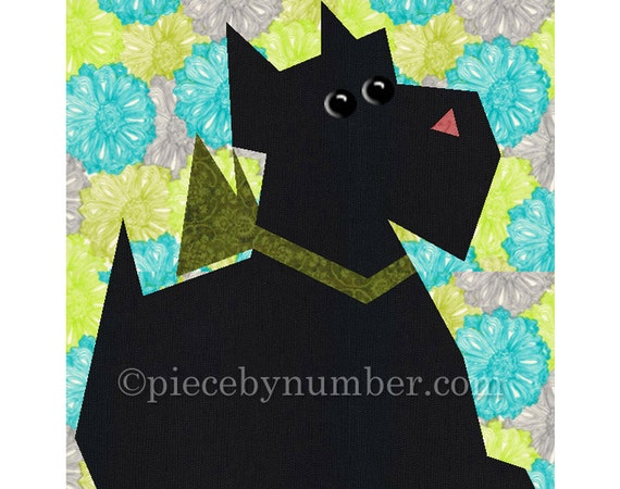 Scottie Dog Quilt Block Pattern Paper Pieced Quilt Patterns