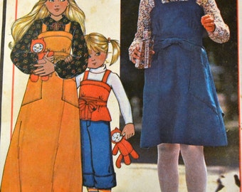 Vintage Sewing Pattern McCall's 5722 Girls' Wrap Jumper Or Top  Size14 Breast 32 inches  Complete