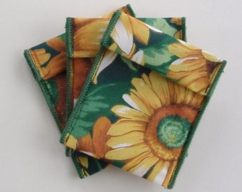 Jewelry Bead Pouches - 12 Sunflowers - Ribbon