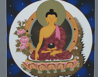Original Buddha Thangka Painting from Nepal-Non Profit