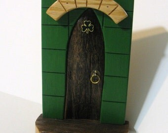 Irish Fairy Door Made Of Four Woods