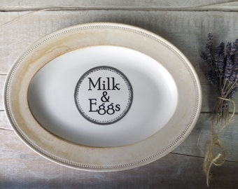 Farmhouse Kitchen Sign // Milk and Eggs Sign // Primitive Kitchen Decor // Shabby Cottage Kitchen // Farm Sign // Homestead Kitchen