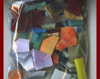 Mosaic Tiles 200 FUN GRAB BAG Handcut Stained Glass Mosaic Tile
