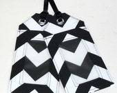 chevron - luggage tag - black and white - wedding favor - shower favor - save the date - corporate gift