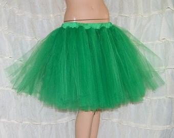 Kelly Green Romance Knee Length TuTu skirt adult All Sizes MTCoffinz