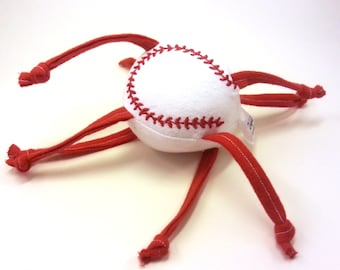 Baseball ZadyMini - White with red stitches - Custom colors and personalization available