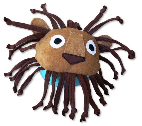 Stuffed Animal - Lionel the Lion - ZadyCreature - Soft Baby Toy Sensory Ball - many colors available