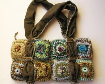 Mafalda mini tote bag in earthy colors