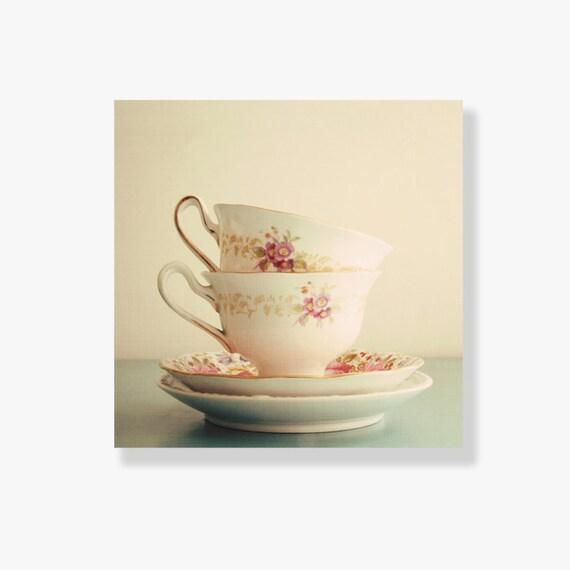 kitchen decor vintage tea cup photo canvas art kitchen art