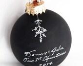 Personalized Chalkboard Ornament - Under the Mistletoe