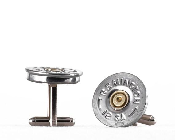 Birthday Present, Groomsmen Gift - Remington 12 Gauge Shotgun Shell Cufflinks - For Dad, Groom, Grad, You