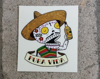 Pura Vida Small Clear Vinyl Sticker