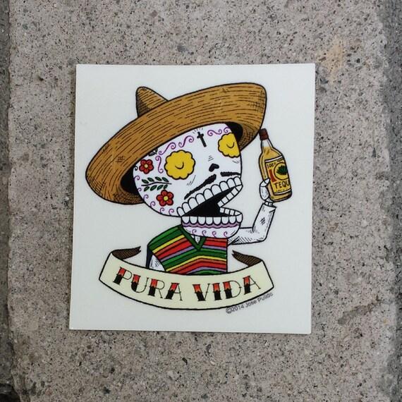 Pura Vida Small Clear Vinyl Sticker From Misnopalesart On