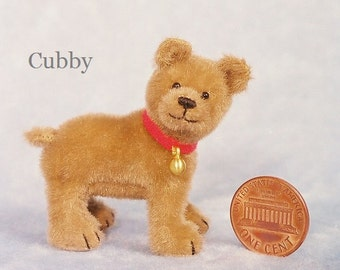 Little Cub - Miniature Teddy Bear Kit - Pattern - by Emily Farmer
